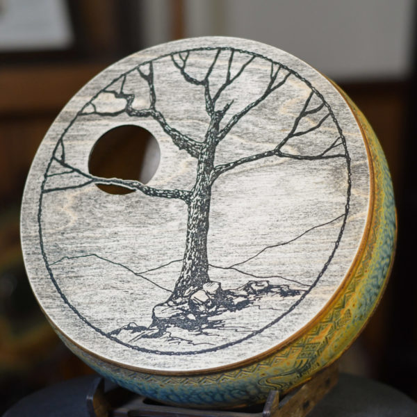 Tree and Moon Groove Crock Drum