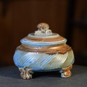 Denim Small Covered Jar